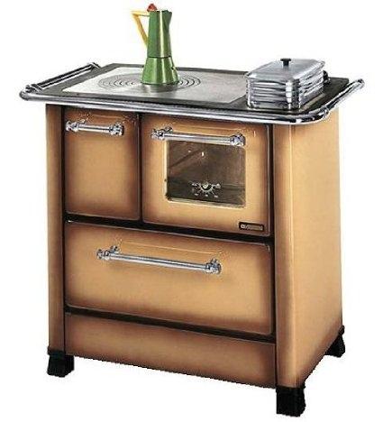 Cucina a legna nordica extraflame romantica 4 5 dx acciaio - Cucina economica a legna nordica ...