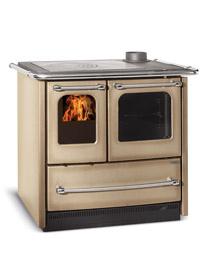 Stufa a cucina a legna la nordica extrafolame sovrana easy colore cappuccino 6 5 kw in acciaio - Stufe a legna nordica opinioni ...