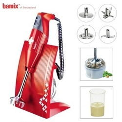 Bamix M200 Robot Frullatore professionale ad immersione SwissLine Rosso BX SL RD Rosso