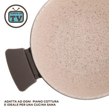 Tegame 2 manici cm 28 UBIQUA TOGNANA NATURAL STONE Induzione Pietra Granitium Stone