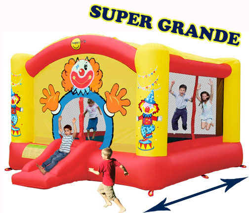 GIOCO GONFIABILE BIG CLOWN ART. 9014N mis. 475 x 390 cm Castello grande salterello gonfiabile Big Clown Happy Hop Grande Gonfiabile con SALTERELLO e SCIVOLO
