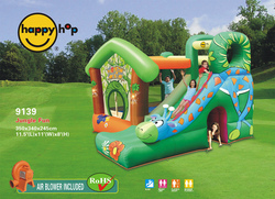 Gioco gonfiabile Jungle Fun Happy Hop modello 9139 Castello gonfiabile pluriaccessoriato Jungle Fun Happy Hop castello scivolo