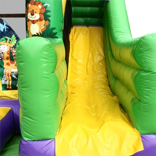 GIOSTRA GIOCO SALTI CASTELLO GONFIABILE HAPPY HOP JUNGLE BOUNCER GIUNGLA ART.1017J  HAPPY HOP PRO CON POMPA INCLUSA HAPPY HOP PRO