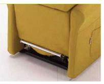 Poltrona Relax Stella completa di Alzapersona e Kit Roller 2 Motori Tessuto Lavabile Colore Giallo Ocra Classico Sfoderabile Consegna 48 Ore