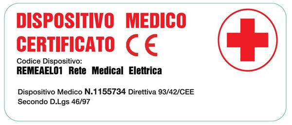 Rete Elettrica Regolabile Medical a Doghe di Legno da Cm. 100x190/195/200 Presidio Medico con Batteria di Emergenza Prodotto Italiano