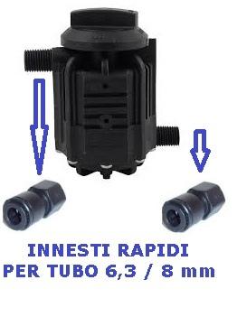 Contalitri meccanico con blocco per depuratori e filtri acqua.