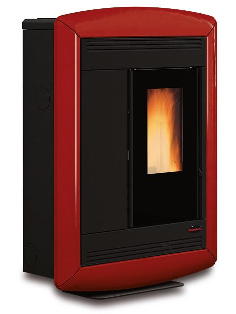 Stufa a Pellet Nordica SOUVENIR LUX Rivestimento in Acciaio Verniciato Top In Maiolica 10,2 kW potenza termica nominale 292 m3 riscaldabili Colore SOUVENIR LUX Bordeaux 1275700
