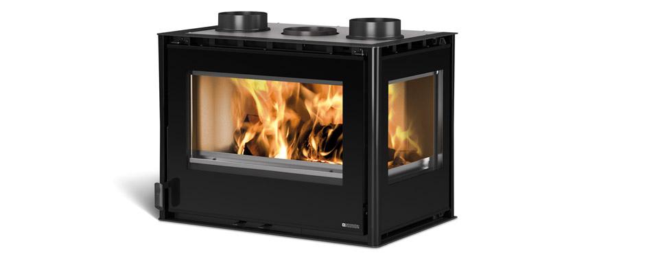 Inserto 70 Crystal Angolo Caminetto da inserimento a Legna 70 Crystal Angolo Nordica 9 kW  riscaldabili 263  m3
