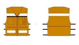 Vest USA Arancio