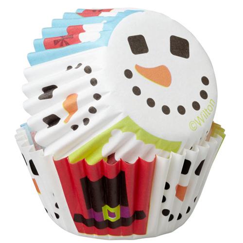 Set 100 minipirottini decoro pupazzo di neve