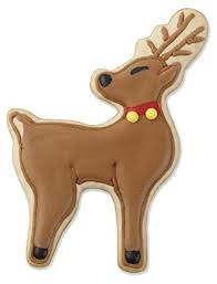 Set 4 stampi per biscotti natalizi, renne Wilton