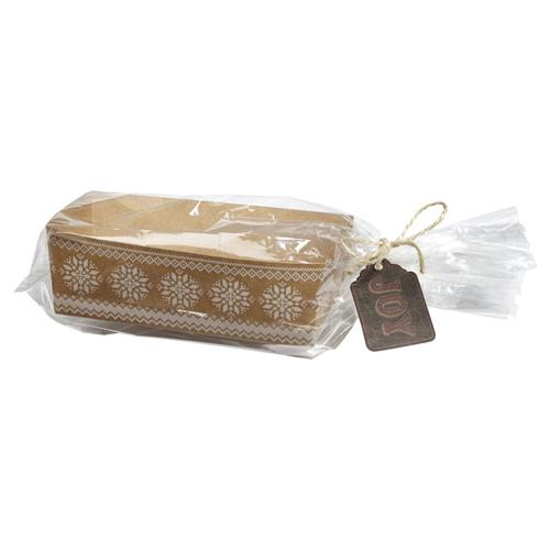 Forme piccoli plumcake carta da forno con sacchetti per Natale