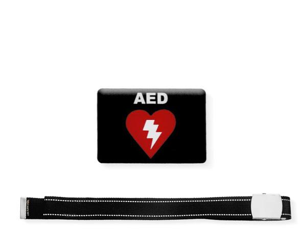 Cinta Nera con etichetta resinata AED