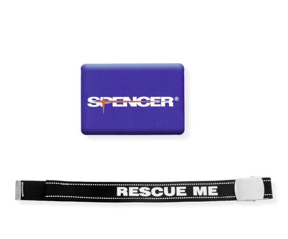 Cinta Rescue Me con etichetta resinata Spencer