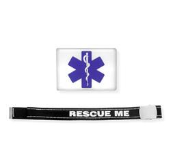 Cinta Rescue Me con etichetta resinata Star of Life