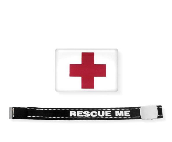 Cinta Rescue Me con etichetta resinata Croce Rossa