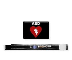 Cinta I Rescue Spencer con etichetta resinata AED