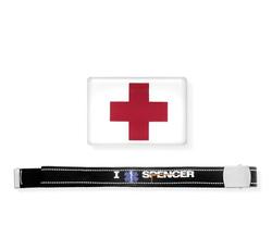 Cinta I Rescue Spencer con etichetta resinata Croce Rossa
