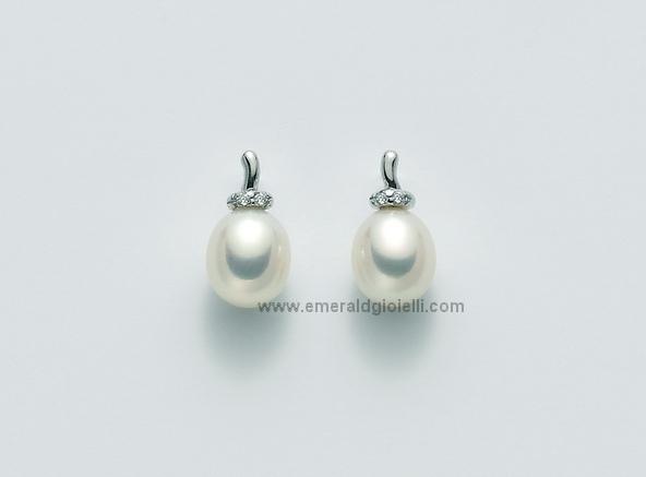 PER1929x Orecchini con Perle e Diamanti -