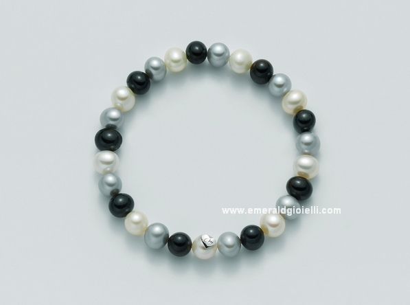 PBR1668 Bracciale Miluna di perle Multicolor