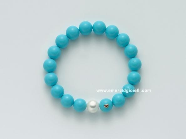 PBR1795 Bracciale con Turchese e perla Miluna -