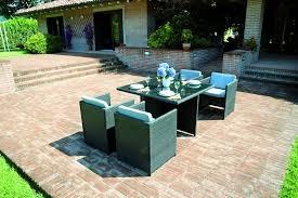 Tavolo Rattan Con Sedie A Scomparsa.Set Loira Garden Tavolo Quadrato Con 4 Sedie In Rattan Sintetico Dsy18