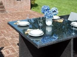 Set LOIRA Garden Tavolo quadrato con 4 sedie in rattan sintetico DSY18
