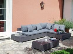 Set Salotto Angolare da giardino SET IMPERIA composto da due ampi divani e un tavolino SET16