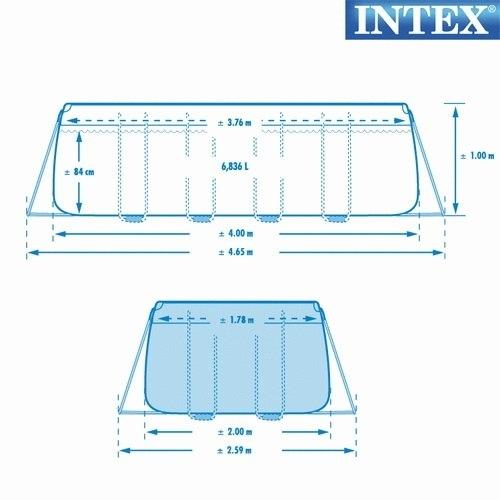 Piscina intex 28350 ultraframe rettangolare 400 x 200 x 100 cm con pompa e scaletta 28350 modello NUOVO