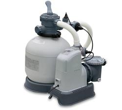 Pompa a sabbia con clorinatore combinato INTEX 28680 Flusso d'Acqua 10.0 M3/H per piscine grandi 56 m³ modello NUOVO