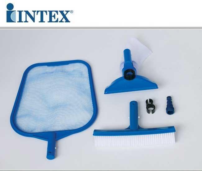 Kit set di pulizia piscina retina spazzola Intex 29056 Retina Spazzola Vaccum
