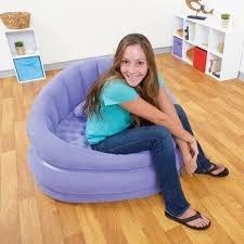 Poltrona divanetto sedia gonfiabile con schienale INTEX 68563 morbido al tatto