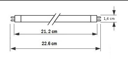 Lampada UV 11W G5 2+2 Pin Philips per debatterizzatore acqua.
