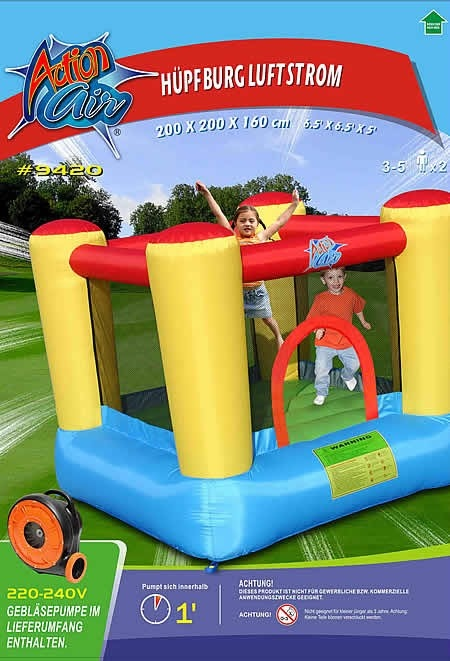 Castello gonfiabile per bambini Happy Hop linea ACTION AIR SALTERELLO TOP code 9420