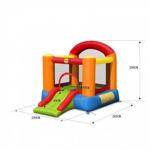 Castello Gonfiabile Ring Happy Hop RING art 9004B - Gonfiabile di piccole dimensioni con Scivolo e Salterello con pompa gonfiaggio