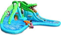 Scivolo Gonfiabile Acquatico Happy Air MR COCCODRILLO art 9517 con 2 scivoli arrampicata piscina