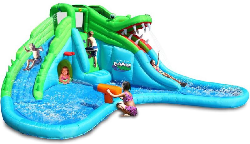 Scivolo gonfiabile happy air mr coccodrillo art 9517 con 2 scivoli arrampicata piscina - Casa gonfiabile per bambini ...