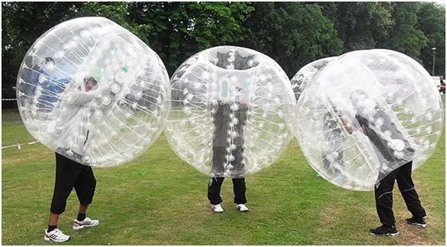 Bubble Football il calcio dentro enorme il pallone gonfiabile Happy Bumper Ball a norma PZ 4