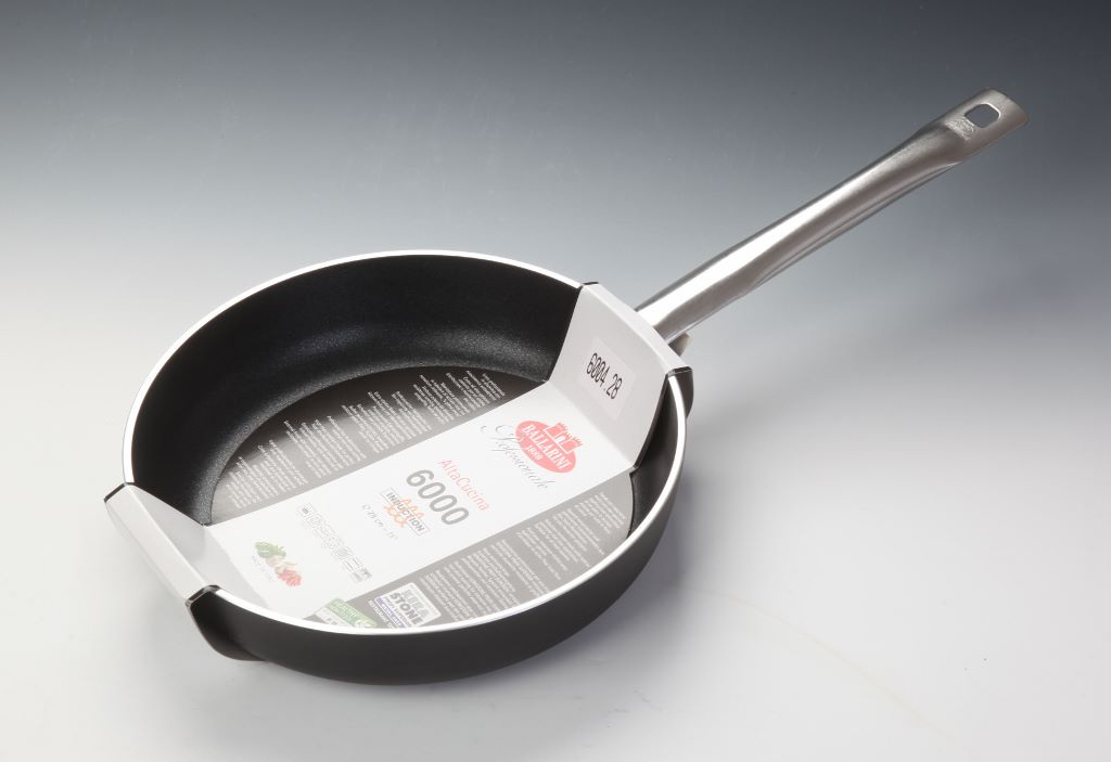 Padella friggere cm 20 media 1 manico Ballarini Serie Professionale 6000 mm5 cm 20 h 5 per induzione codice 6004.20