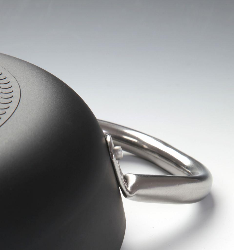 Tegame cm 28 medio 2 manici Ballarini Serie Professionale 6000 mm5 cm 28 h 6,5 per induzione codice 6008.28