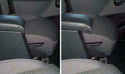 Accoudoir réglable en longueur avec porte-objet pour Fiat Ulysse