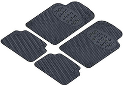 Universal rubber floor mats, odorless