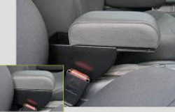 Adjustable armrest with storage for Audi 80
