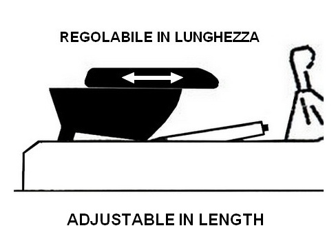 Adjustable armrest with storage for Fiat Coupé