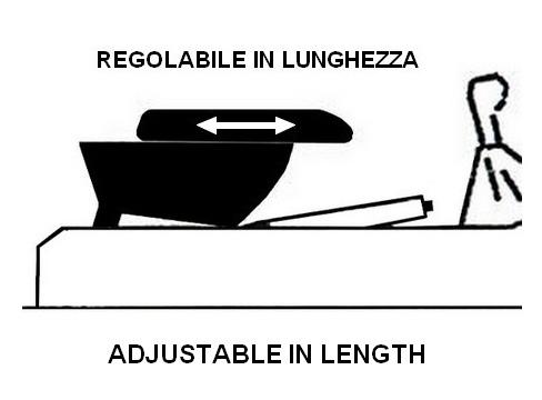 Accoudoir réglable en longueur avec porte-objet pour Fiat Coupé