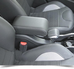 Bracciolo regolabile per Peugeot 2008 (2013-2019) con cuciture colorate