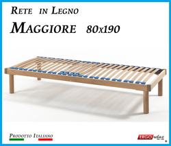 Rete in Legno Maggiore con 26 Doghe di Faggio e Regolatori Rigidità 80x190