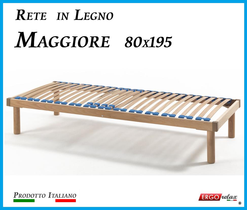 Rete in Legno Maggiore con 26 Doghe di Faggio e Regolatori Rigidità 80x195