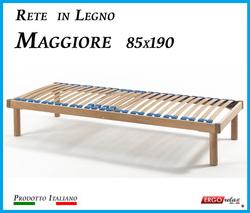 Rete in Legno Maggiore con 26 Doghe di Faggio e Regolatori Rigidità 85x190