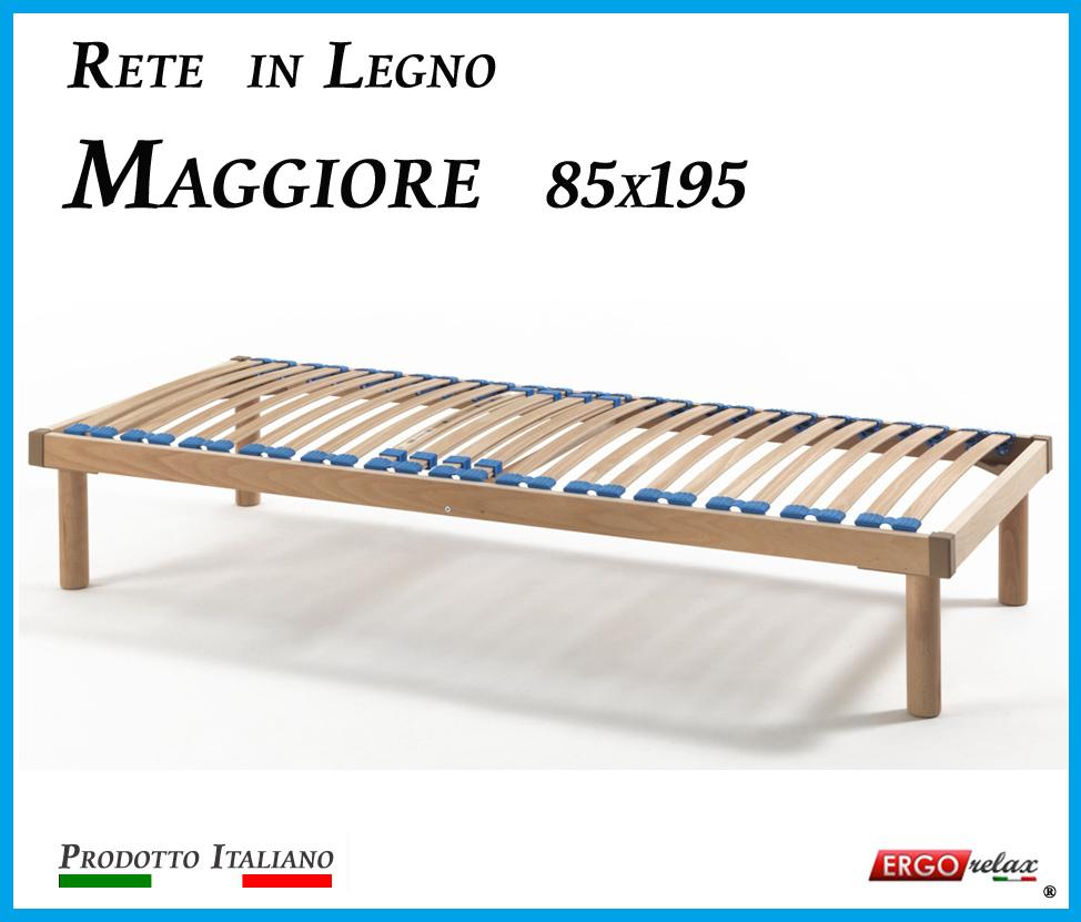 Rete in Legno Maggiore con 26 Doghe di Faggio e Regolatori Rigidità 85x195
